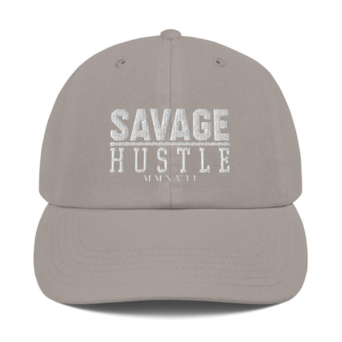 Savage Hustle Champion Dad Cap