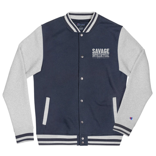 Savage Intellectual Embroidered Champion Bomber Jacket