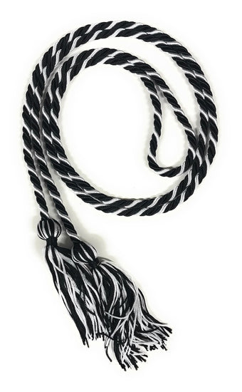 Black/White Graduation Honor Cords