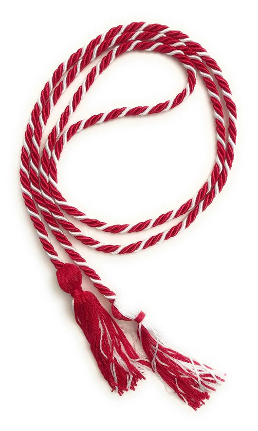 Red/White Graduation Honor Cords