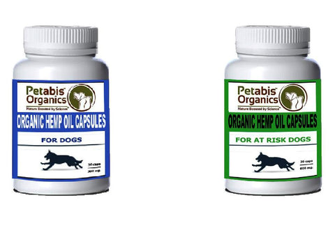 Pet Age Features Petabis Organics CBD Hemp Oil capsules for dogs cbd capsules for cats