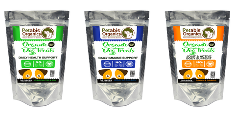 Petabis Organics PCR Hemp Oil Dog Snacks canine hemp oil treats hemp dog treats