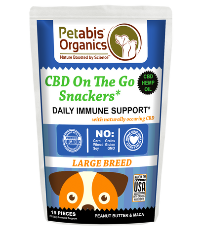 CBD ON THE GO SNACKERS LARGE BREED DAILY IMMUNE SUPPORT CBD DOG SNACKS