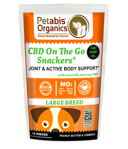 CBD ON THE GO SNACKERS LARGE BREED JOINT & ACTIVE BODY SUPPORT CBD SNACKS