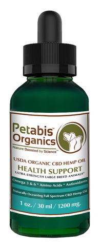CBD HEMP OIL 1200 mg ULTRA STRENGTH LARGE BREED ANIMALS* USDA ORGANIC ACTIVE CBD PCR HEMP OIL*