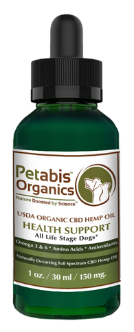 CBD HEMP OIL 150 mg. ALL LIFE STAGE Dogs* 150 mg. USD Organic CBD PCR Hemp Oil for Dogs & Cats* 1 oz