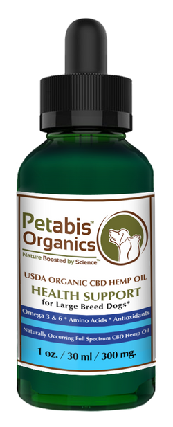CBD HEMP OIL 300 mg. LARGE BREED DOGS* - 300 mg. USDA Organic CBD PCR Oil for LARGE BREED DOGS* 1 oz