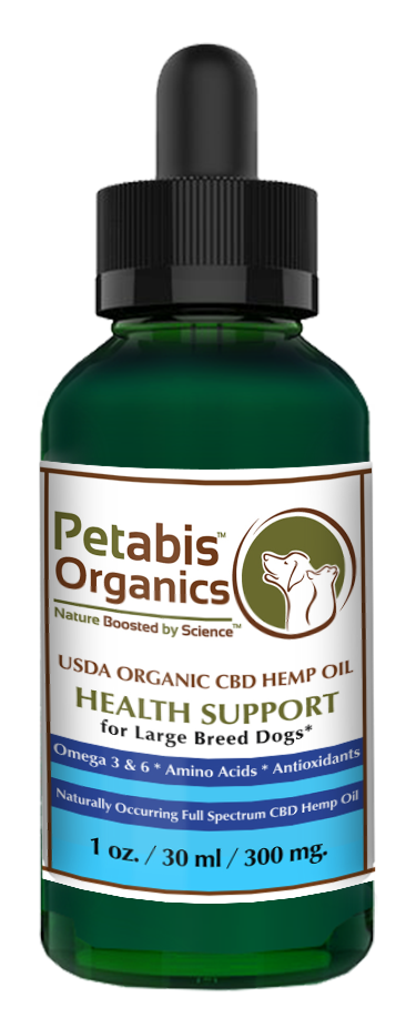 CBD HEMP OIL 300 mg  LARGE BREED DOGS* - 300 mg  USDA Organic CBD PCR Oil  for LARGE BREED DOGS* 1 oz