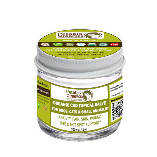 CBD TOPICAL SALVE 300 mg 1 Oz* USDA ORGANIC CBD TOPICAL SALVE DOGS, CATS SMALL ANIMALS & HORSES*