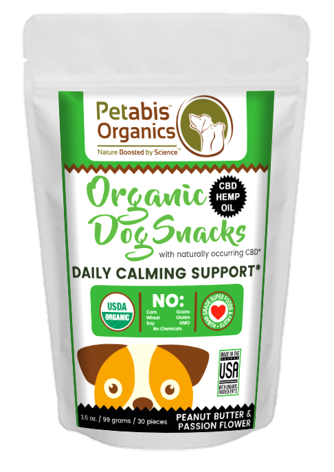 CBD DAILY CALM SUPPORT SNACKS 1.5 mg. 30 Pieces* - PEANUT BUTTER & PASSION FLOWER* 3.5 oz
