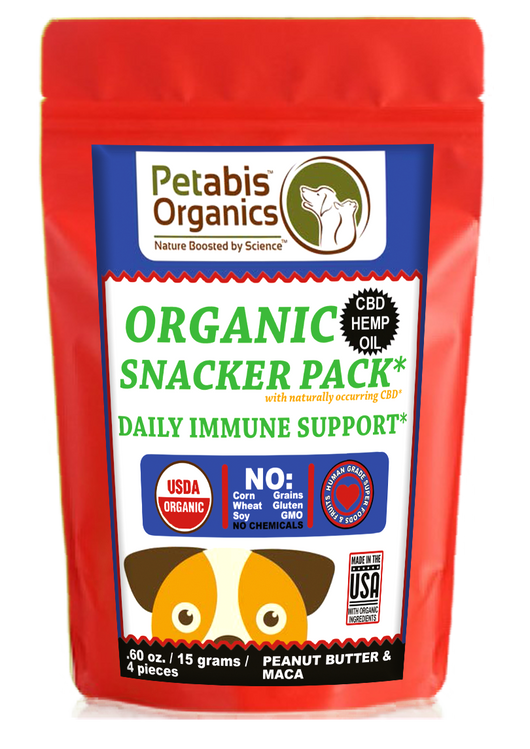 CBD IMMUNE SNACKER PACK - 4 PIECE DAILY IMMUNE SUPPORT 1.5 mg.* 4 PIECE TRAVEL SIZE CBD SNACKER PACK*