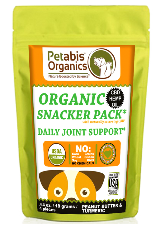 CBD JOINT SNACKER PACK* 1.5 mg 4 PIECE TRAVEL SIZE PB & TURMERIC TRAVEL PACK