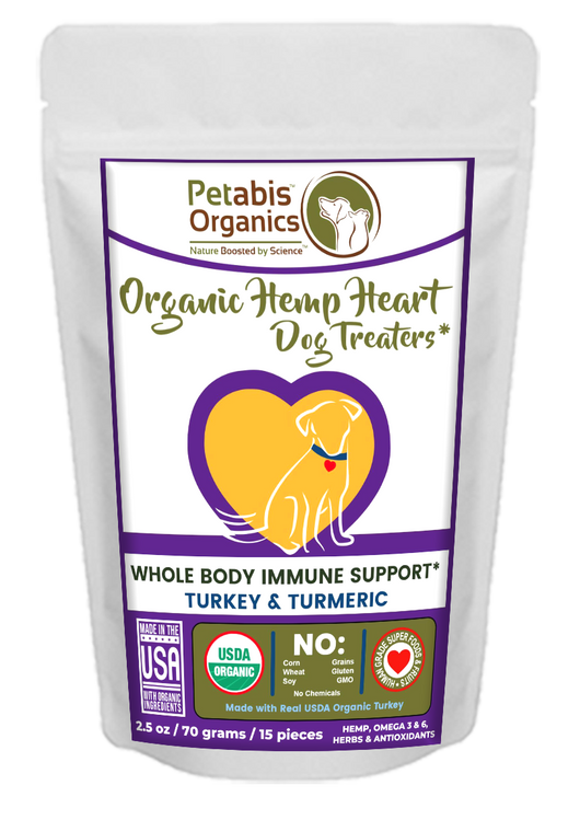 HEMP HEART WHOLE BODY IMMUNE TREATERS 15 Pieces* TURKEY & TURMERIC 15 Pieces 2.35 Oz.
