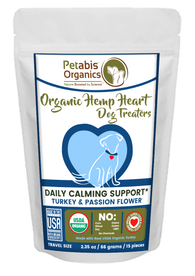 HEMP HEART DAILY CALMING TREATERS 15 Pieces* TURKEY & PASSION FLOWER 15 Pieces 2.35 Oz Bag