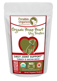 HEMP HEART JOINT SUPPORT TREATERS 15 Pieces* TURKEY & SACHA INCHI 2.5 Oz. 15 Piece Bag