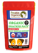 CBD IMMUNE LARGE BREED 5 mg SNACK PACK* 4 PIECE DAILY IMMUNE SUPPORT 5 mg* 4 PIECE TRAVEL SIZE 5 MG CBD SNACKER PACK*