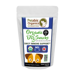 CBD DAILY IMMUNE SUPPORT DOG SNACKS 1.5 mg. 30 Pieces* - PEANUT BUTTER & MACA CBD TREATS 3.5 Oz.