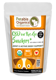 CBD On The GO DAILY 1.5 mg. JOINT SNACKERS* 15 Pieces PB & TURMERIC DOG SNACKS* 2.0 Oz