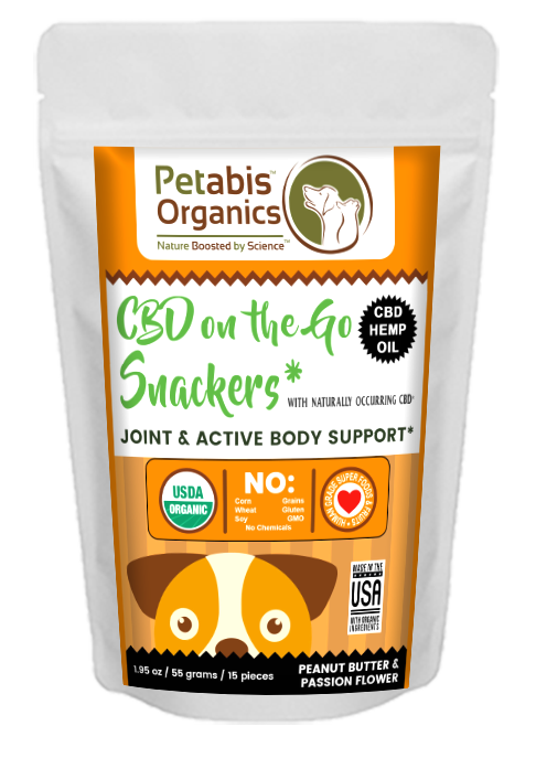 CBD On The GO DAILY JOINT SUPPORT DOG SNACKERS 1.5 mg. 15 Pieces* CBD PB & TURMERIC DOG SNACKS* 2.0 Oz