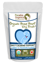 HEMP HEART DAILY CALMING SUPPORT DOG TREATS* TURKEY & PASSION FLOWER & CAROB 4 oz 30 Pieces