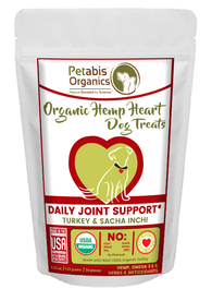 HEMP HEART DAILY JOINT & ACTIVE BODY SUPPORT TREATS*  30 Pieces 4.35 Oz TURKEY, SACHA INCHI & CHIA