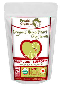 HEMP HEART DAILY JOINT & ACTIVE BODY SUPPORT TREATS* TURKEY, SACHA INCHI & CHIA 4.35 Oz 30 Pieces