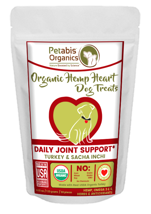 HEMP HEART DAILY JOINT & ACTIVE BODY SUPPORT TREATS 30 Pieces* TURKEY, SACHA INCHI & CHIA 4.35 Oz 30 Pieces