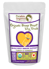 HEMP HEART WHOLE BODY IMMUNE SUPPORT TREATS* 30 Pieces 4.5 oz. Bag TURKEY & TURMERIC