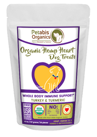HEMP HEART WHOLE BODY IMMUNE SUPPORT TREATS 30 Pieces* TURKEY & TURMERIC 30 Pieces 4.5 oz. Bag