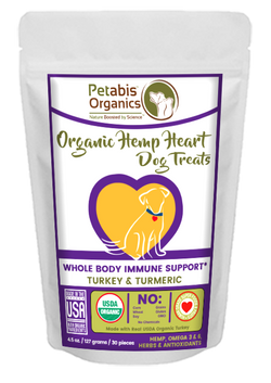 HEMP HEART WHOLE BODY IMMUNE SUPPORT TREATS* TURKEY & TURMERIC 30 Pieces 4.5 oz. Bag 30 Pieces