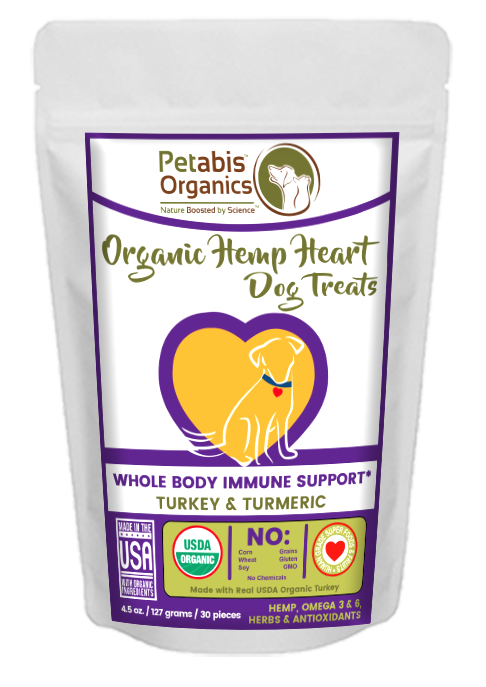 HEMP HEART WHOLE BODY IMMUNE SUPPORT TREATS 60 Pieces* 9 oz. Bag TURKEY & TURMERIC
