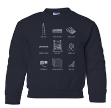 Load image into Gallery viewer, 'Montessori Material' Crew Sweatshirt in Navy