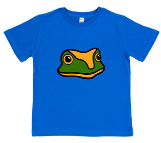 boys frog t-shirt blue