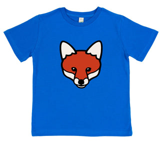 boys fox t-shirt blue