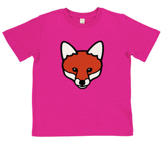 girls fox t-shirt pink