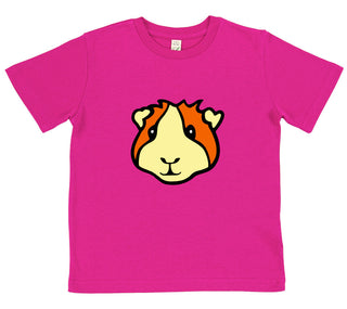 girls guinea pig t-shirt pink