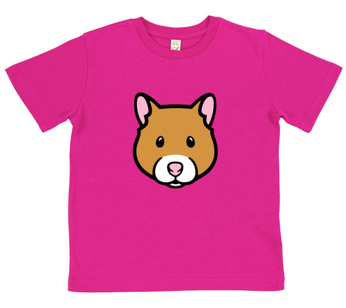 girls hamster t-shirt pink