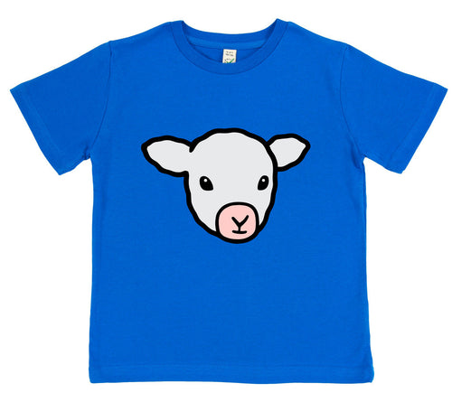 girls lamb t-shirt pink
