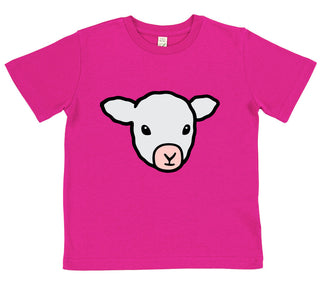 boys lamb t-shirt blue