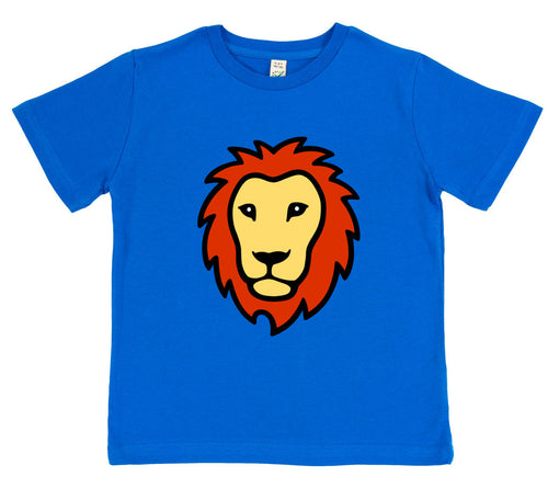 boys lion t-shirt blue