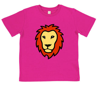 girls lion t-shirt pink