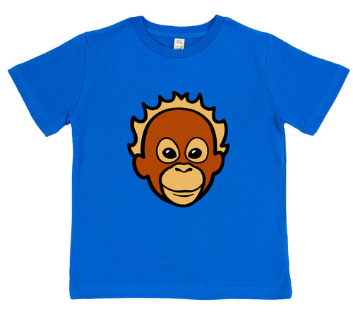 boys orangutan t-shirt blue