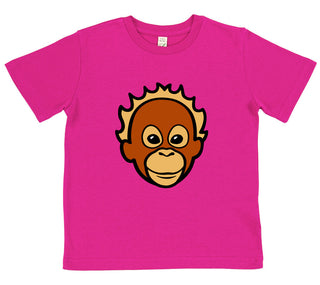 girls orangutan t-shirt pink