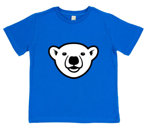 boys polar bear t-shirt blue