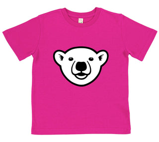 girls polar bear t-shirt pink