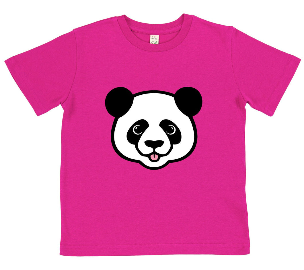 girls panda t-shirt pink