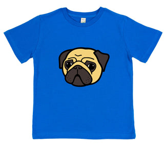 girls pug t-shirt pink