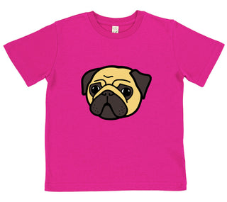 boys pug t-shirt blue