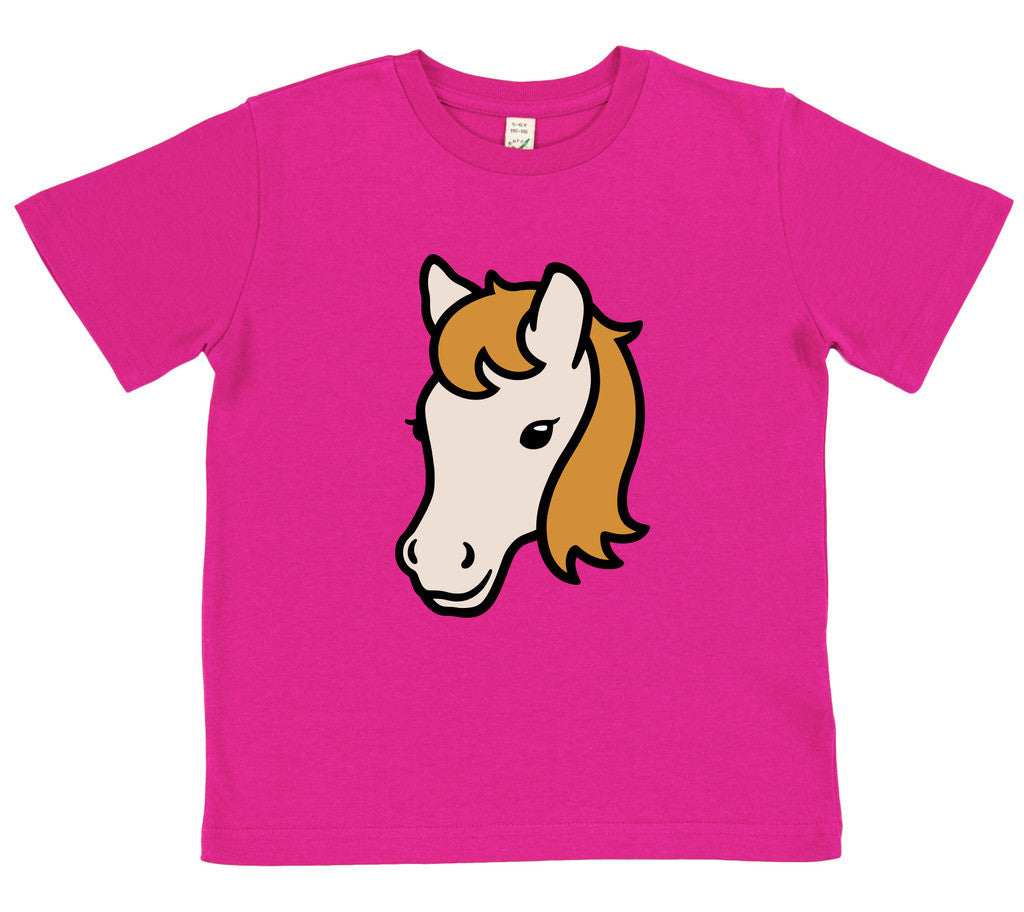 boys horse t-shirt blue