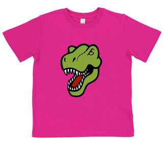 girls dinosaur t-shirt pink T-rex